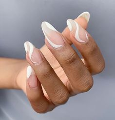 Almond Acrylic Nails, Best Acrylic Nails, Nails Ideias, Acylic Nails, Finger, Fire Nails, Funky Nails, Minimalist Nails, Dream Nails