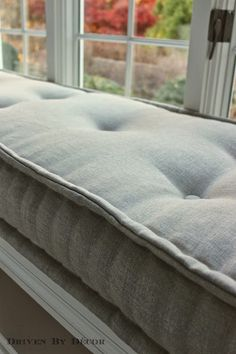 Hand rolled mattress cushion....Driven By Décor: Some Progress on the House
