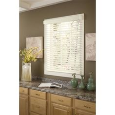 Richfield Studio 2 inch Faux Wood Blinds, Width: 10 inch-40.5 inch, Length: 48 inch, White