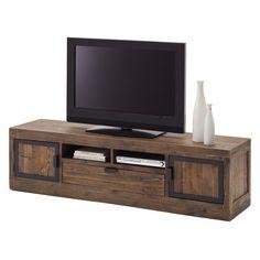 tv lowboard firlo ii kiefer massiv antik braun