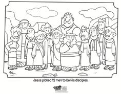 Teaching kids about the 12 disciples (apostles) is tricky business. Of course, these followers of Jesus were very important people, but the Bible doesn't actually give us too much detail when it comes to their personalities and preferences. Find this coloring page at What's in the Bible Recently, when the 12 disciples were on…