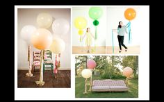 Geronimo balloons for photo ops. Make in themed colors. DIY tutorial http://sugarandcloth.com/2012/01/diy-fancy-frill-balloons/