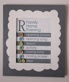 delia creates: Magnetic Family Home Evening Board Family Worship Night, Family Night, Family Home Evening, Home And Family, Closing Prayer, Fhe Lessons, Visiting Teaching, Church Crafts, Relief Society