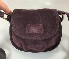 UGG Australia Purple Suede Small Cross-Body Shoulder Bag Handbag #UGGAustralia #MessengerCrossBody