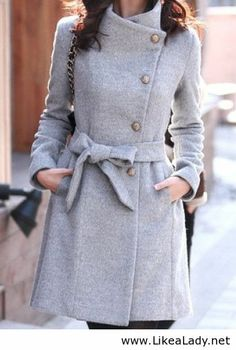 Simple grey winter coat