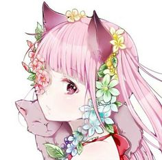 Anime girl with cat ears