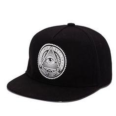 2016 Fashion Round Label Triangle Eye Illuminati Snapback Caps Women Adjustable Baseball Cap Snapbacks Hip Hop Hats unisex hat