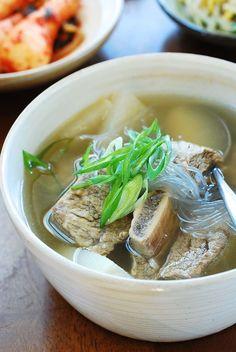 Galbitang - Beef Short Rib Soup Korean Recipe via: @VikasThakurPins