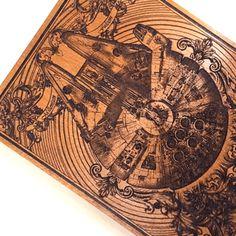 Millennium Falcon Gift - Star Wars Gifts #starwars #millenniumfalcon #wood