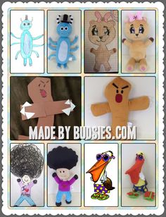 How I LOVE this idea!!  So creative and fun to take the kids art and make it into a stuffed animal!!