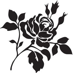 5 Best Images of Free Printable Rose Stencil - Rose Flower Stencil, Rose Stencil Patterns Free and Rose Flower Stencil Stencil Templates, Stencil Patterns, Stencil Diy, Templates Printable Free, Stencil Painting, Stencil Designs, Fabric Painting, Printables, Flower Stencils