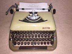 Mechanische Schreibmaschine Erika 10 antiques typewriter kaffee/cappuccino