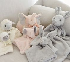 The Monique Lhuillier for Pottery Barn Kids Collection Just Launched (And It's Gorgeous! Soft Baby Blankets, Boy Blankets, Monique Lhuillier, Pottery Barn Kids, Baby Shower Gifts, Baby Gifts, Baby Girl Elephant, Pink Elephant, Baby Security Blanket