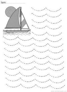 Line worksheets. Preschool Workbooks, Kindergarten Coloring Pages, Preschool Writing, Numbers Preschool, Kindergarten Math Worksheets, Preschool Learning Activities, Preschool Curriculum, Visual Motor Activities, Writing Practice Worksheets