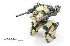 AFA5-01 by legorobo:waka, via Flickr Military Robot, Lego Army, Lego Mechs, Cool Lego Creations, Lego Design, Lego Models, Lego Instructions, Legos, Activities For Kids
