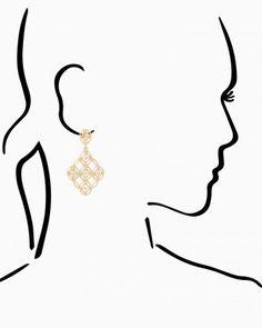 Open Lattice Drop Earrings