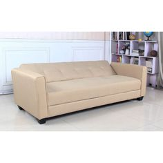 Sofá cama Clayton tela beige Canapé Convertible 3 Places, Chaise Bar, Couch, Storage, Furniture, Home Decor, Sofa Chester, Sleeper Couch, Gray Fabric