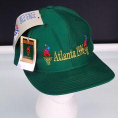b2f663a8f61 1996 Atlanta XXVI Olympic Games Snapback Hat NWT The Game Vintage Baseball  Cap