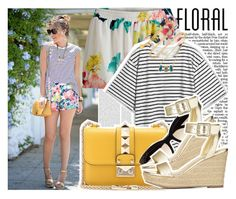 """""""Floral Shorts"""" by enola123 ❤ liked on Polyvore"""