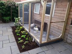 Housing and care Hometree rabbits . Bunny Sheds, Rabbit Shed, Rabbit Farm, Pet Rabbit, Outdoor Rabbit Run, Outdoor Rabbit Hutch, Indoor Rabbit, Bunny Cages, Rabbit Cages