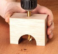 When I need holes drilled too far from the edge of a board to use my drill press, I reach for this handy drilling guide. It allows me to position the bit exactly and assures that I'll drill a perpendicular hole, as long as I hold the guide firmly on the workpiece. I can also drill to an accurate depth by chucking the drill bit so it protrudes beyond the …