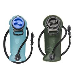 Outdoor Backpack Accessories - WINTER SALE 2 Liter Hydration Bladder for Adventurers 1 Tough Water Reservoir Pack in 2L Blue or Military Green Best in Backpack for Hiking RunningCycling and Hunting Insulated Hose No Leaks -- Check this awesome product by going to the link at the image.