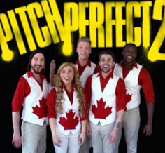 Pentatonix at the Pitch Perfect set