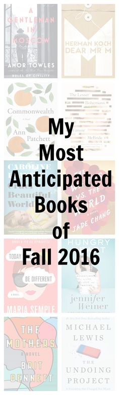 It's big, buzzy book season! Check out which ones I'm most excited about!