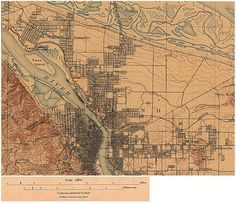 1897 Portland. A railroad where the Banfield now runs, and not even a hint of the Hollywood District.