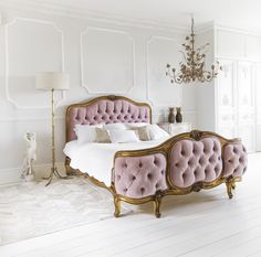 The French Bedroom Company The Sacre Coeur Pink Velvet Bed. The French Bedroom…