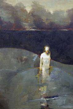 "Saatchi Art Artist Danny McCaw; Painting, ""BLACK LAKE"" #art"