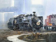 Watercolor Original Painting by Masato Watanabe, Original and Post card