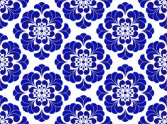 Blue and white flower pattern Chinese and Japanese style, porcelain floral seamless background, beautiful ceramic tile design, vector illustration Colorful Flowers, Blue Flowers, Pink Damask Wallpaper, Background Patterns, Background Red, Vector Background, Church Icon, Decorative Lines, Floral Pattern Vector