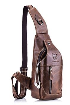 Amazing offer on Men's Sling Bag Genuine Leather Chest Shoul.- Amazing offer on Men's Sling Bag Genuine Leather Chest Shoulder Backpack Cross Body Purse Water Resistant Anti Theft online - Shoulder Backpack, Backpack Purse, Shoulder Bag, Shoulder Sling, Hiking Backpack, Backpack Online, Travel Backpack, Leather Crossbody Bag, Leather Purses