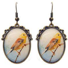 Here Little Birdy Earrings – ASK ALICE by All Gifts Online All Gifts, Online Gifts, Pocket Watch, Alice, Birds, Illustration, Earrings, Accessories, Ear Rings