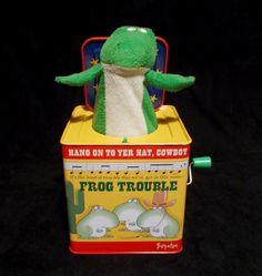 Sandra Boynton Frog Trouble Frog in the Box Cracker Barrel Exclusive 2013 #sandraboynton #boynton #jackinthebox #frogtrouble #crackerbarrel