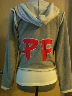 Punkyfish Red and Grey Hoodie, back view, Rose Tyler from episode: Dalek