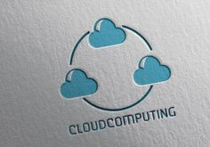Cloud Computing logo vector template for download. Print ready and editable design
