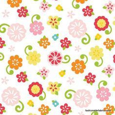 Fabric... Simply Sweet Sweet Flower in White by Riley Blake Designs