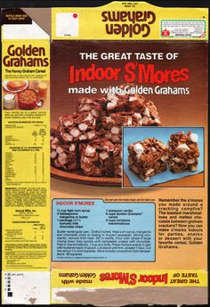 1980's - General Mills - Golden Grahams - Indoor S'Mores - back