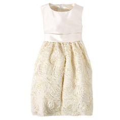 Flower girl dress (Sleeveless Dress with Rosettes (Plus)