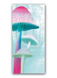 Fantasiepilze Motivdruck bunt pastell