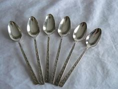 Demi Tasse Spoons Silverlace 1968 Rogers Bros by Saltofmotherearth