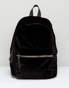 dd1c95a81401 Image 1 of New Look Velvet Backpack Go Bags