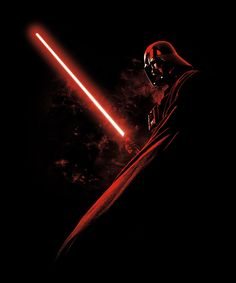 Red Darth Vader (see more on http://www.tranchesdunet.com/illustrations-de-starwars/ )