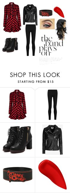 """""""The band plays on"""" by markielovell ❤ liked on Polyvore featuring RED Valentino, Donna Karan, IRO, Lipstick Queen, women's clothing, women's fashion, women, female, woman and misses"""