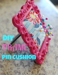 Mini Frame Pin Cushion- this is adorable and so convenient!
