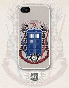 """This amuses me!  (It says, """"My people skills are rusty."""" ) Iphone 5 case crest of the knight of fandom / Supernatural, Doctor Who, Sherlock, Avengers, Potter, Star Trek, Merlin, Hobbit"""