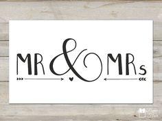 Stempel Hochzeit - Mr. & Mrs.