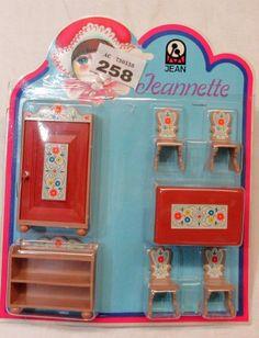 W258 Jeannette, Jeanette Germany Rustic Dining Room 1/16 Scale | EBay. More  Information. More Information. Vintage Dolls House Kitchen Furniture ...